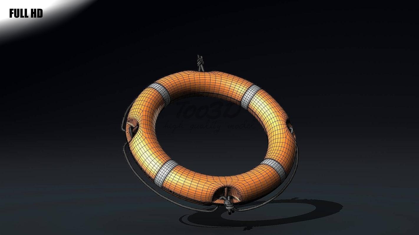 rescue ring c4d