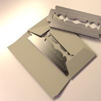razor blade 3d model