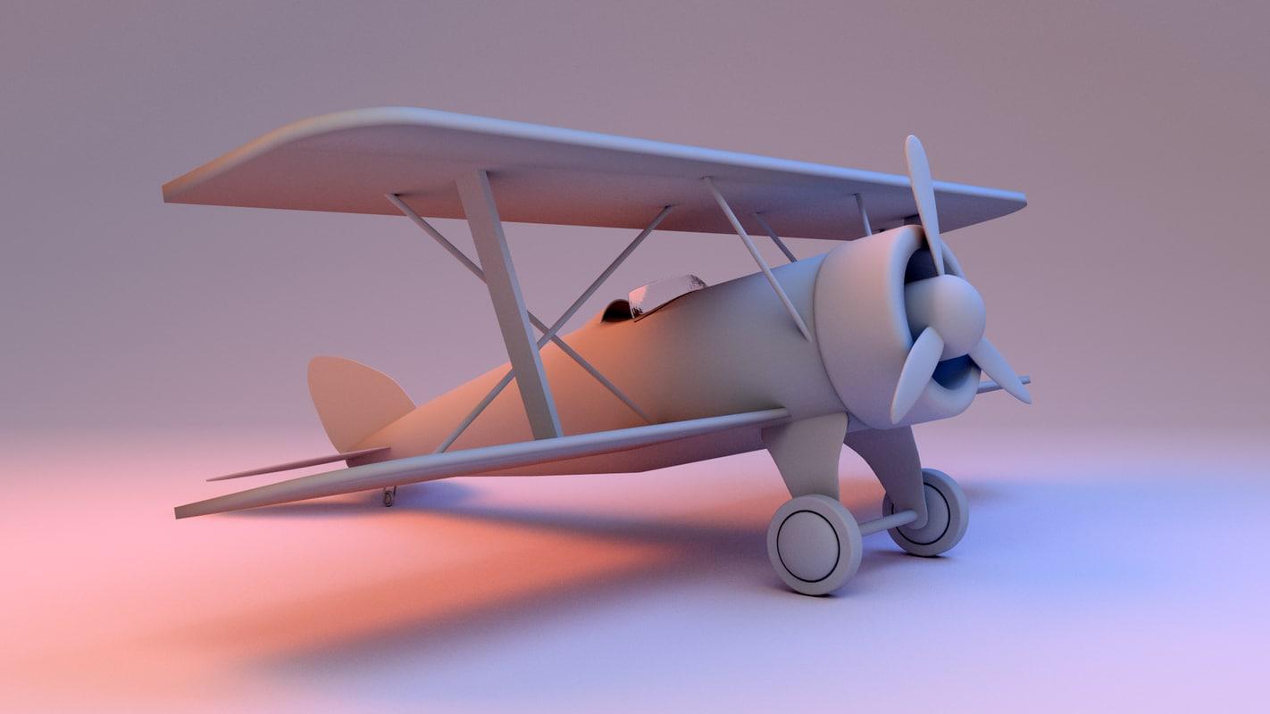 3d obj toy plane