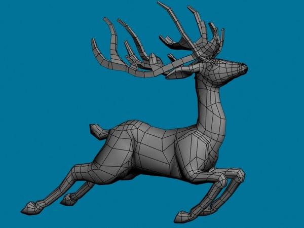 santa reindeer 3d max
