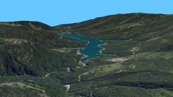 lake italy resolution 3d model