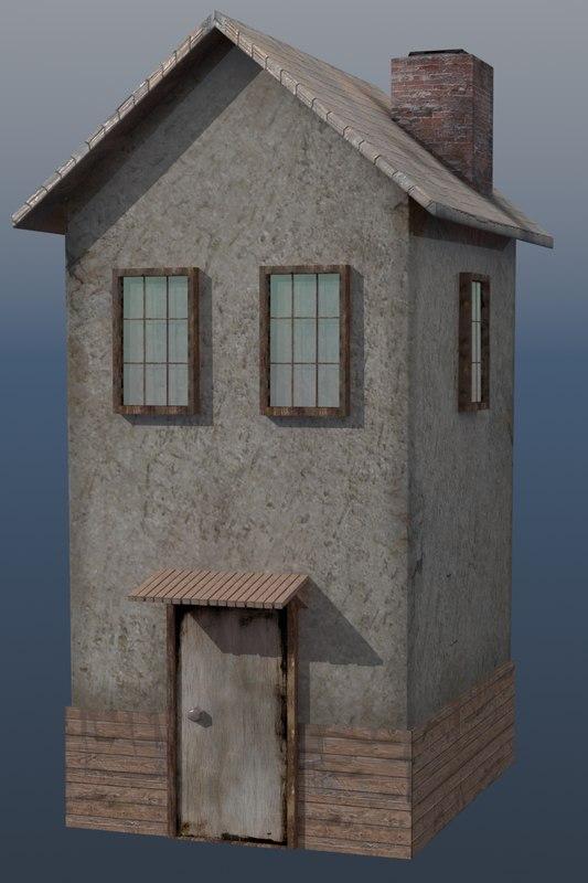 shack old 3d model