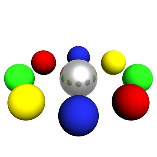 3d spheres dance loader