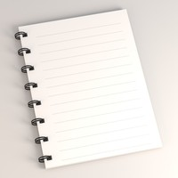 note notebook book 3d
