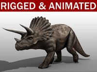triceratops animation 3d 3ds
