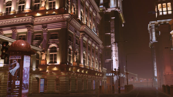 ma buildings street photorealism real