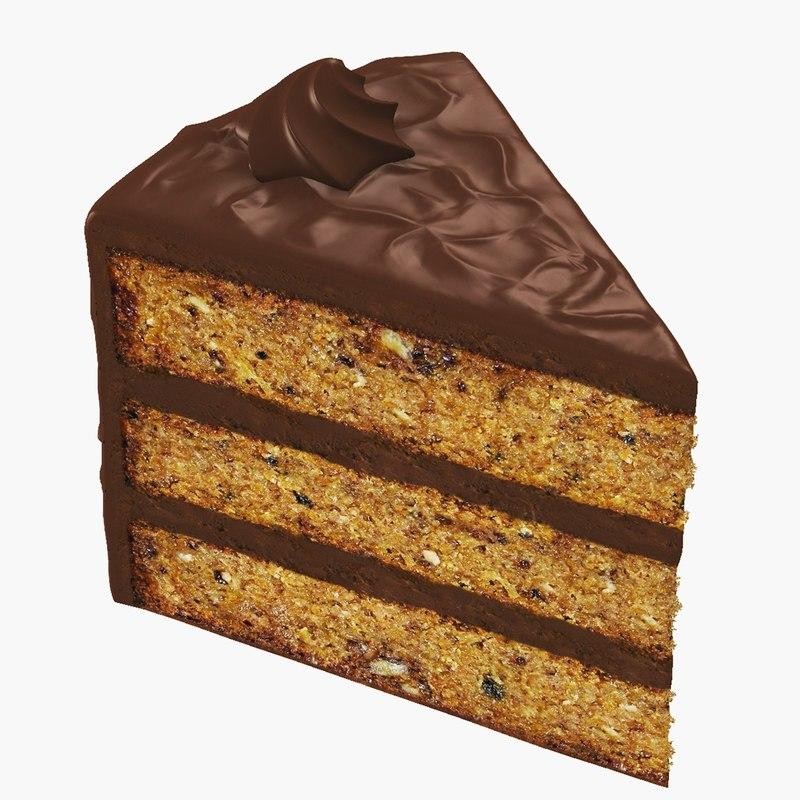 slice cake 3d model