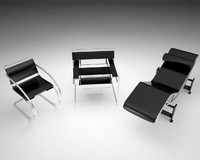 Wassily bauhaus collection: Marcel breuer chair, wassily armchair, le corbusier chaise lounge,