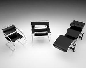 3d model bauhaus marcel breuer chair
