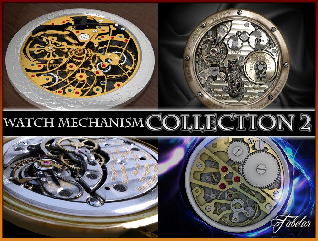 watch mechanisms 2 3d c4d
