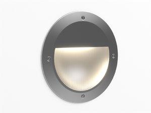 3d model erco visor floor washlight