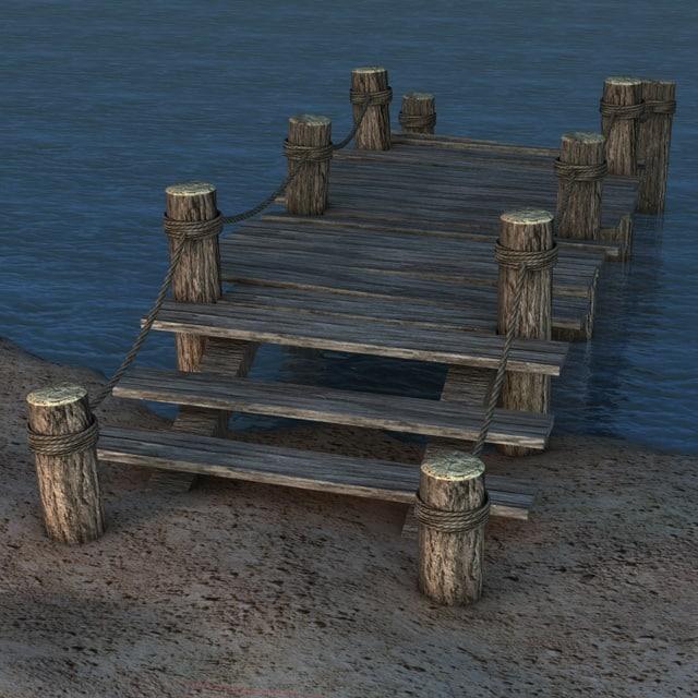 old pier 3d model