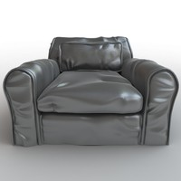Soft leather armchair