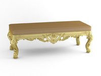 banquette modelled 3ds