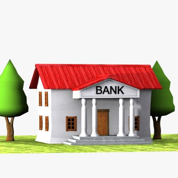 3dsmax Cartoon Bank Toon