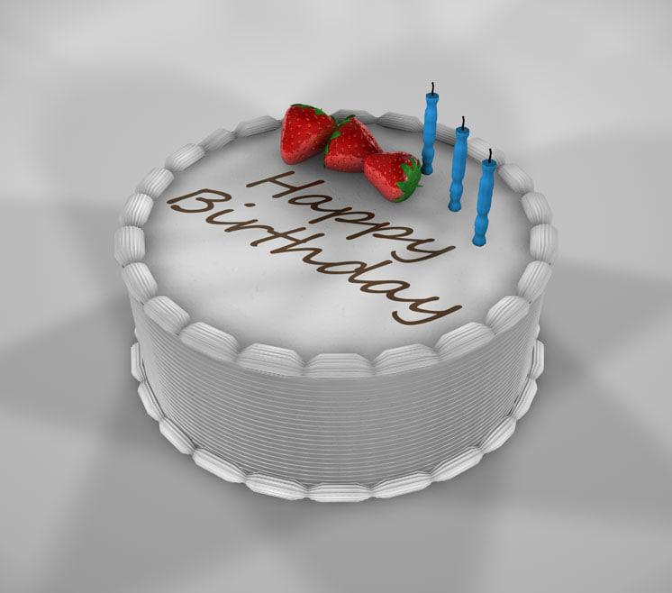 c4d birthday cake
