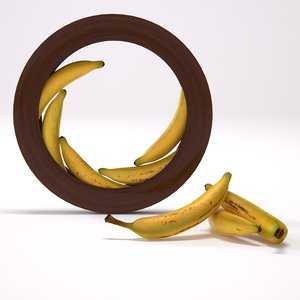 free banana bar kitchen 3d model