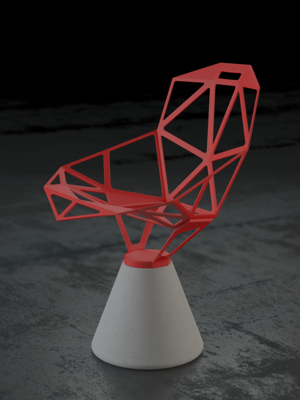 3d model chair konstantin grcic
