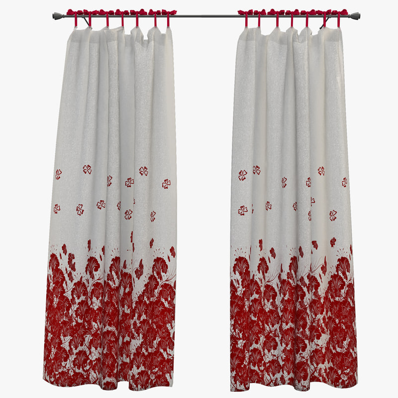 3d model curtain 3