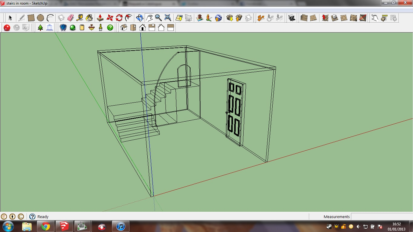 3d small room doors stairs