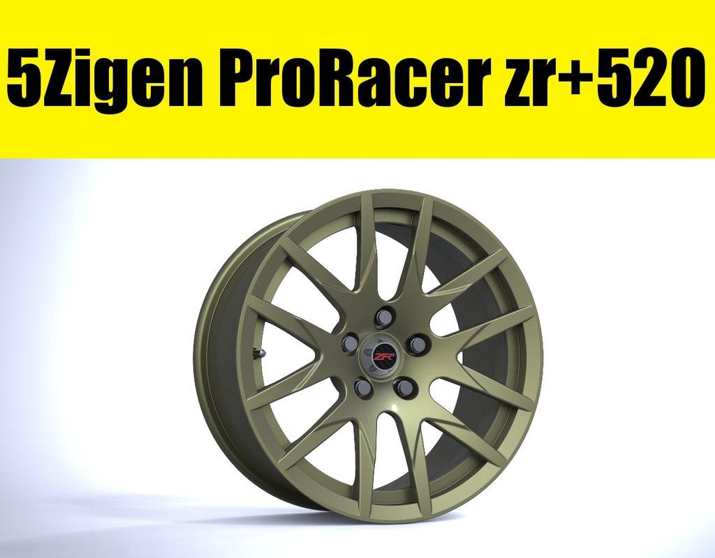 3d 5zigen proracer zr 520 model