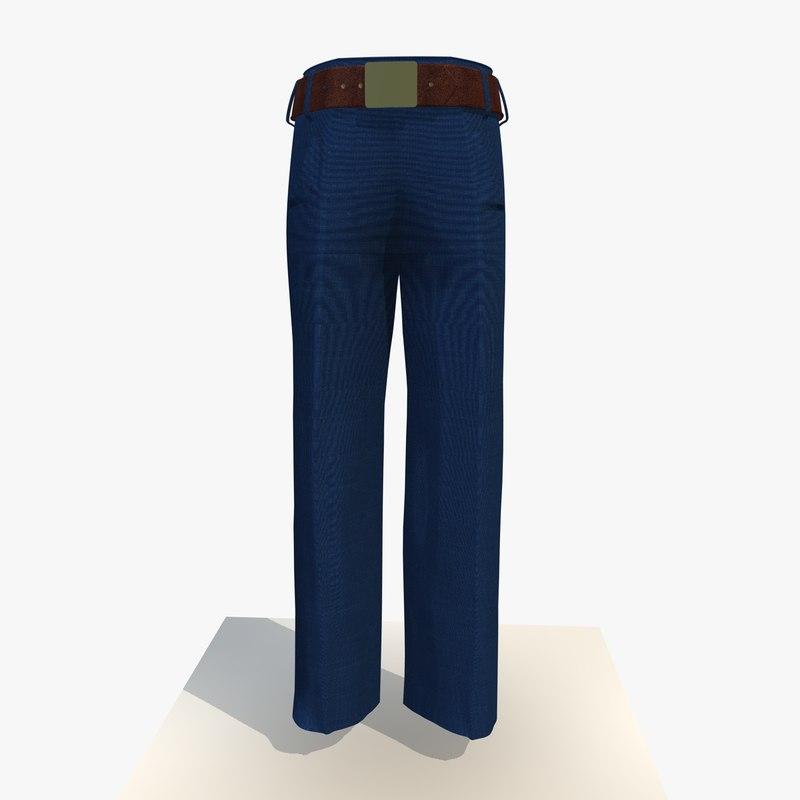 womans blue trousers 3ds