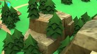 3d large boulder