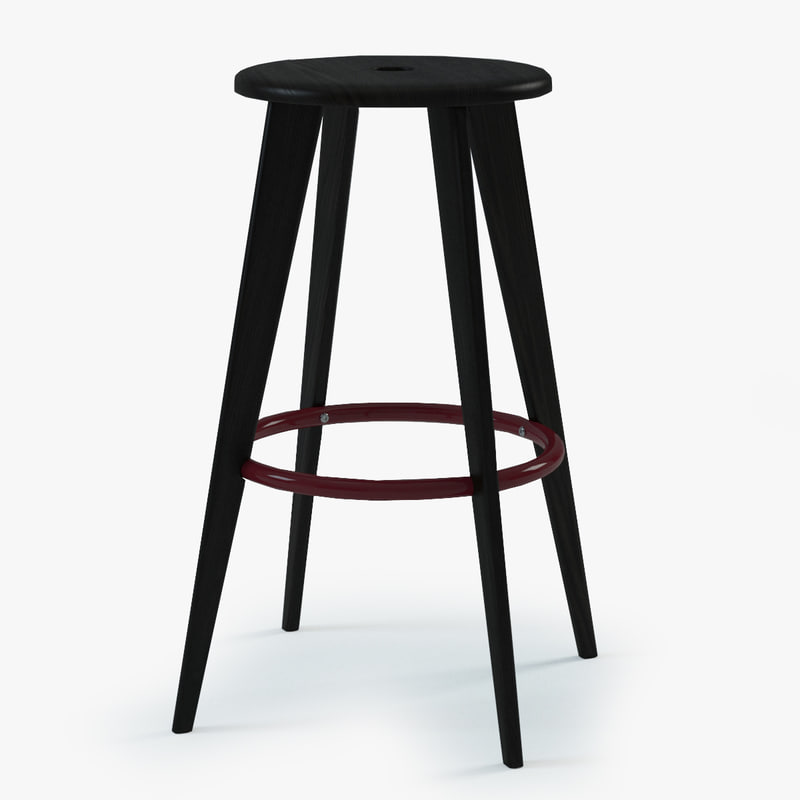 prouve tabouret haut bar chair 3d 3ds