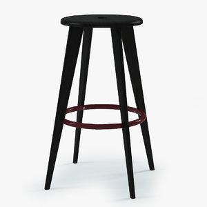 prouve tabouret haut bar chair 3d 3ds
