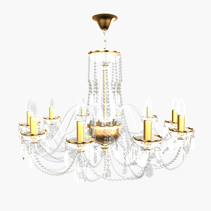 3d chandelier andrea small model