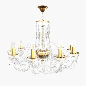 3d chandelier andrea small model