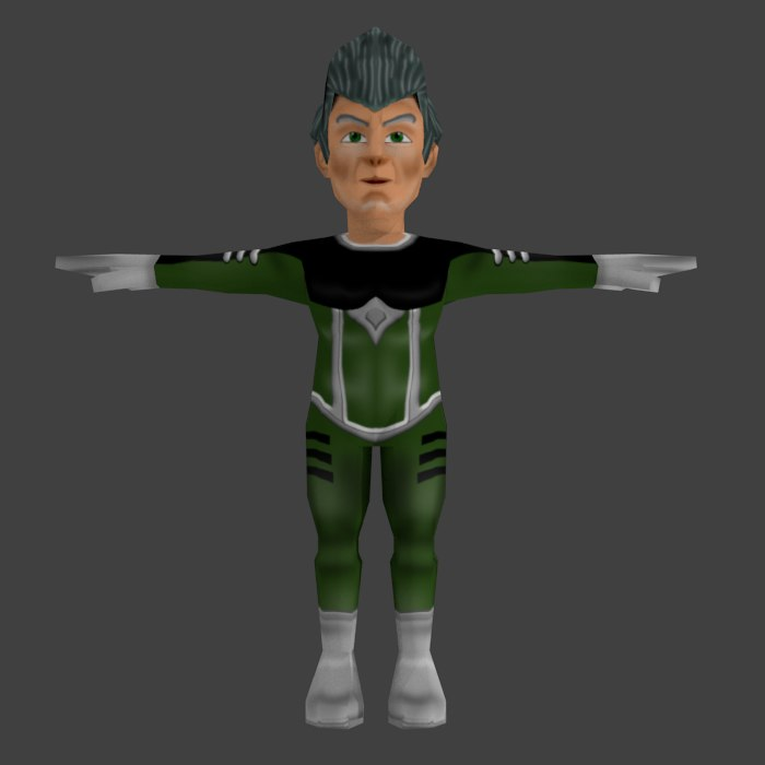3d model science fiction character