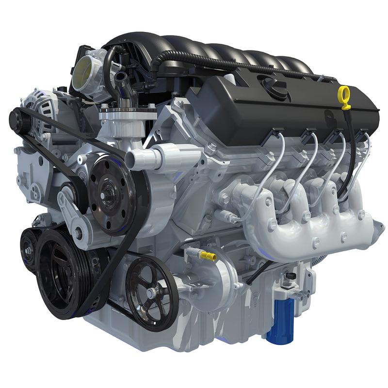 3d 2014 chevrolet silverado v8 engine model