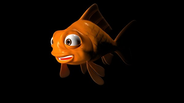 3d cartoon fish dave model