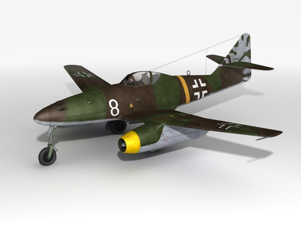 fighter jets 262 airplane 3d obj