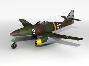fighter jets 262 airplane 3d obj
