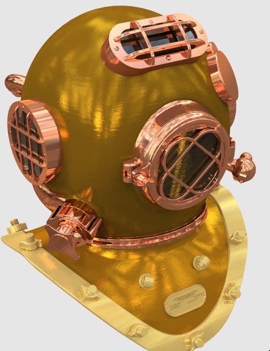 diving helmet 3d 3ds