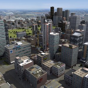 3d city building details model
