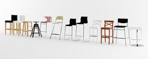 ikea bar stool pack 3d model