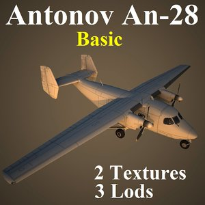 3d antonov basic aircraft