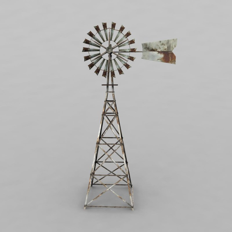 windmill wind 3d model