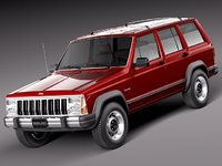 jeep cherokee 1984 1996 3d model