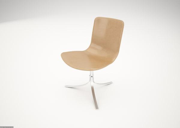 3d 3ds pk9 chair poul kjaerholm
