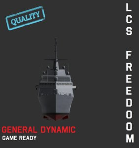 united states lcs freedom 3d model
