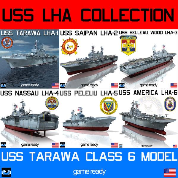 uss tarawa lha 3d model