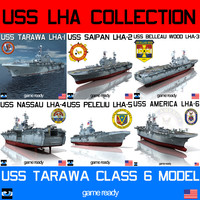 uss tarawa lha 3d model