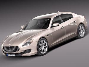 maserati quattroporte luxury sedan 3d 3ds
