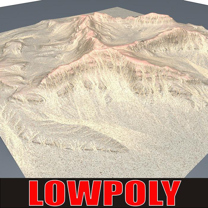 3d mountain maps terrain