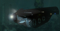 steampunk submarine steam 3d model