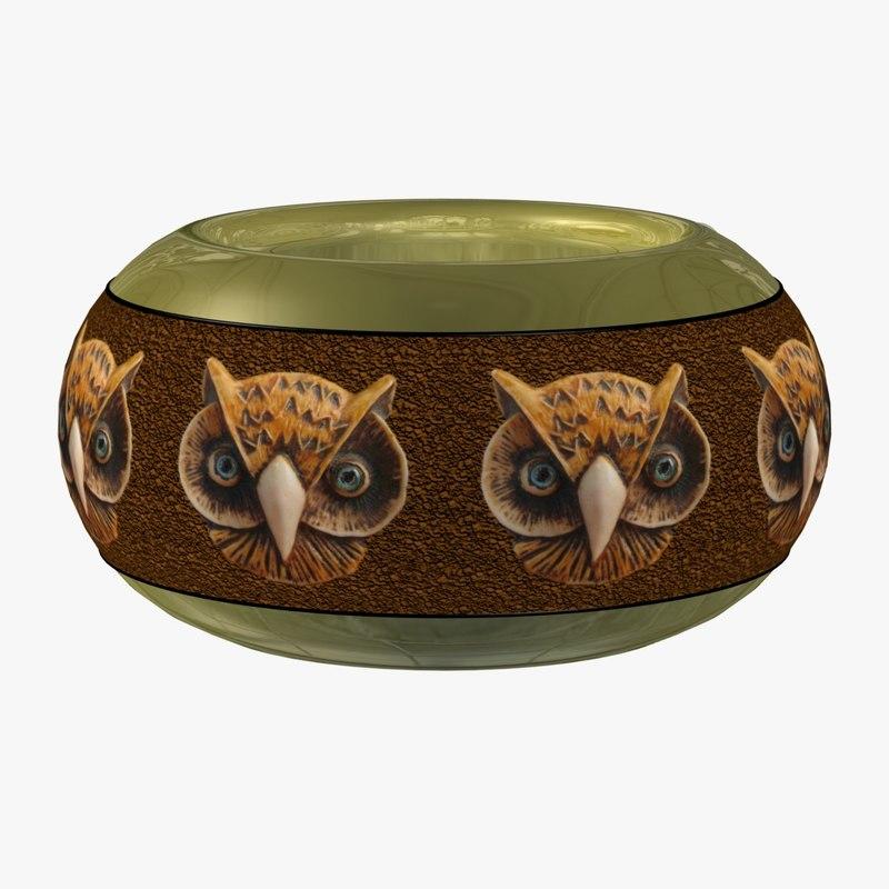 3d decorative vase fg model